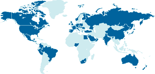 world map of members